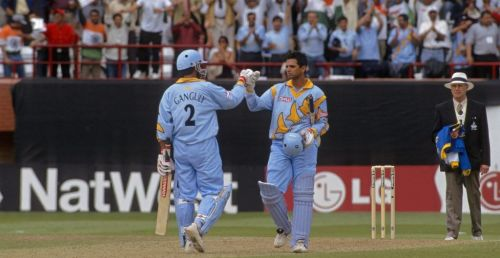 Rahul Dravid after scoring a century against Sri Lanka in 1999 CWC