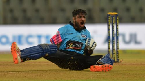 Shubham Ranjane celebrates after leading his team to a third straight win