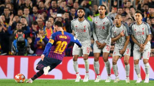 Where does Messi's incredible free-kick versus Liverpool rank?