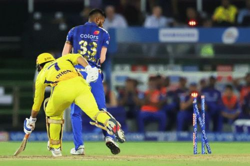 Dhoni's Run Out was a Game Changing moment for MI.