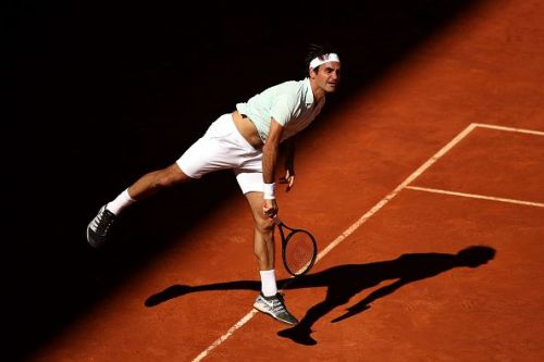 Federer was off to a quick start in his quarter-final match at the Mutua Madrid Open 2019