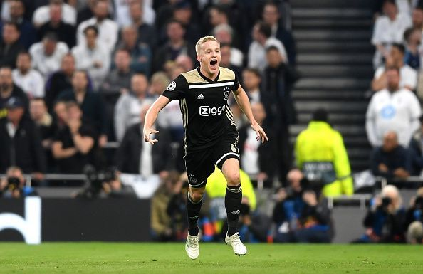 Donny Van de Beek scored the only goal of the match