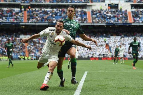 Carvajal had an abysmal game against Real Betis.
