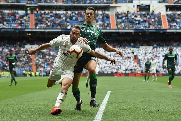 Carvajal had an abysmal game against Real Betis.