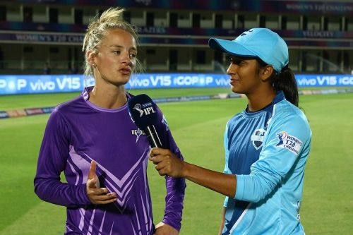 Jemimah and Wyatt having a good time after the match. Image Courtesy - IPLT20/BCCI