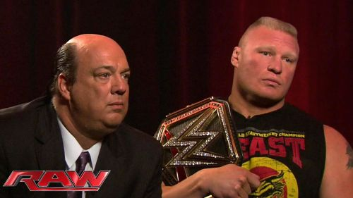 Heyman put Lesnar in the limelight