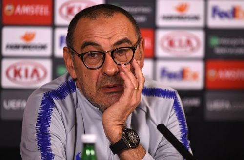 Despite finishing third in the Premier League , some sections of Chelsea fans are not convinced about Sarri