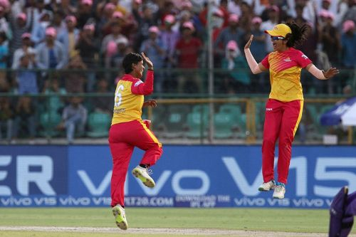 Deepti Sharma took 3 wickets in her last over and ended in the losing side (Image Courtesy: IPLT20/BCCI)