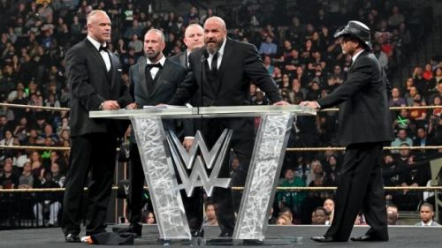 Triple H took a direct shot at AEW at the WWE Hall of Fame ceremony earlier this year