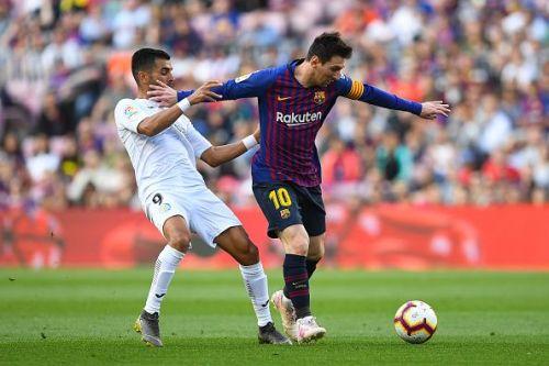 FC Barcelona beat Getafe 2-0 in their La Liga game.