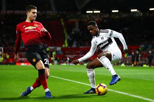 Ryan Sessegnon in action against Manchester United