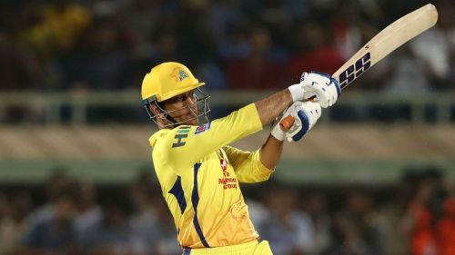MS Dhoni in action for Chennai Super Kings.