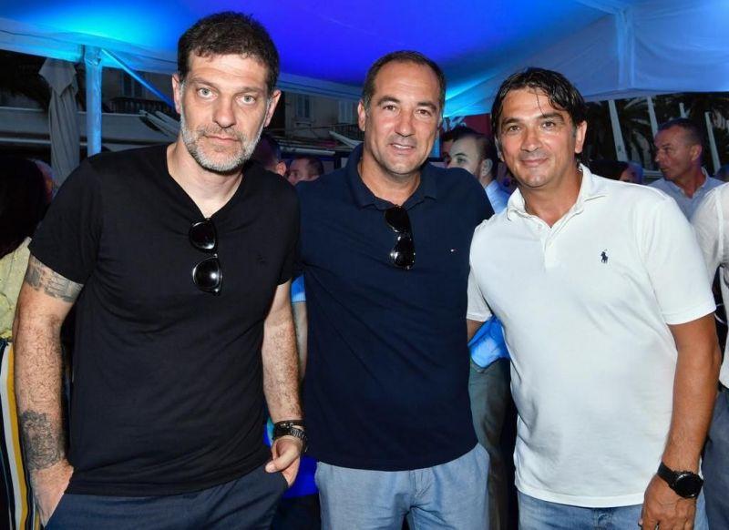 Igor Stimac with Croatian coaches Slaven Bilic (ex) and Zlatko Dalic