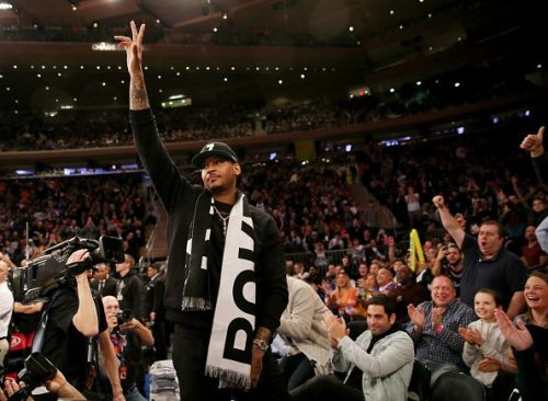 Carmelo Anthony during Miami Heat's game against the New York Knicks at the MSG