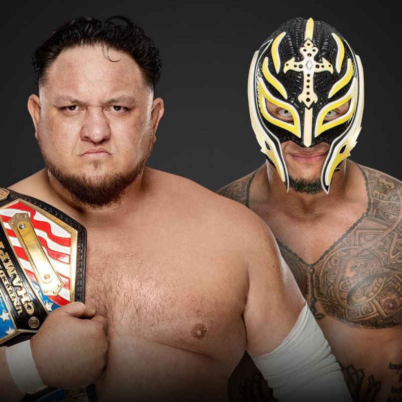Samoa Joe vs rey mysterio in a singles match