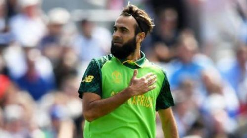 Imran Tahir took a wicket in his first over.