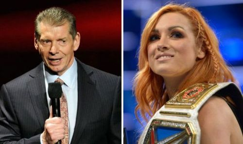 The champ Becky Lynch and the boss Vince McMahon
