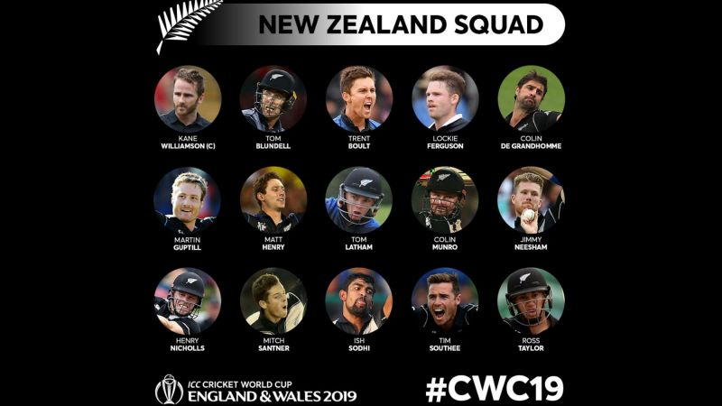 New Zealand's World Cup Squad (Image Courtesy - ICC/cricketworldcup.com)