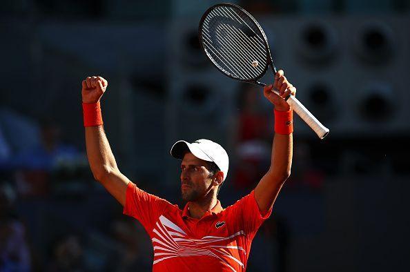 Novak Djokovic starts as a favourite against Stefanos Tsitsipas in the Madrid Open final