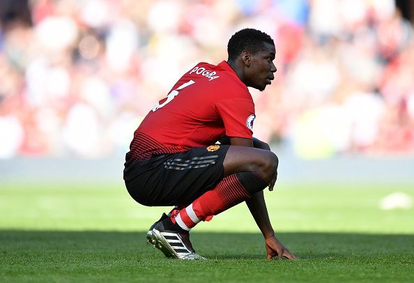 Pogba has cut a frustrated figure at Old Trafford lately