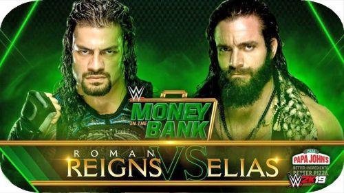MITB 2019: Roman Reigns vs Elias