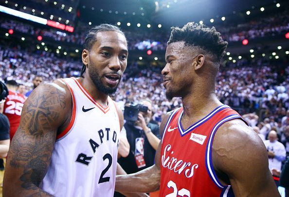 17dbff4a039 The Lakers are believed to be interested in both Kawhi Leonard and Jimmy  Butler