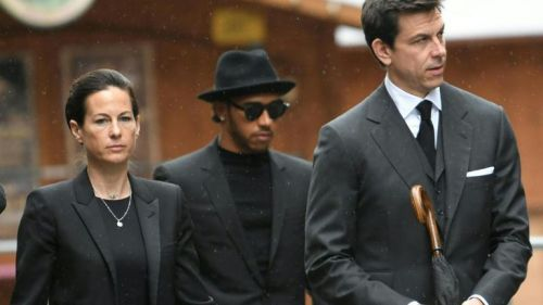 Hamilton and Wolff at Niki Lauda's funeral