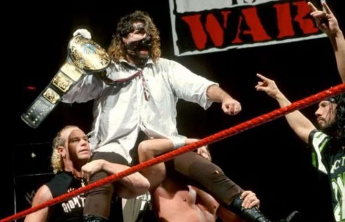 Foley wins WWE Title