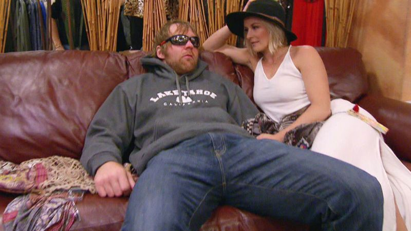 Moxley and his wife Renee Young