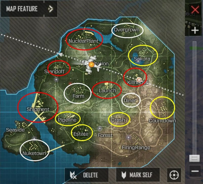 Call of Duty Mobile Tips: Best locations to loot in Battle ... Battle Of Mobile On Map on battle of games, west florida maps, battle of social media, american revolutionary war maps, valley forge maps,