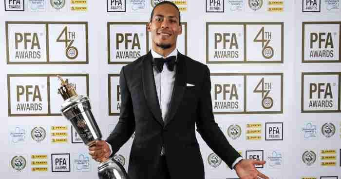 Van Dijk has won the PFA player of the year