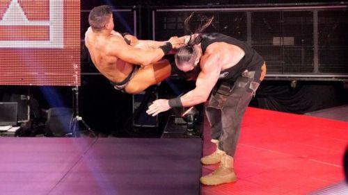 Braun Strowman destroying EC3