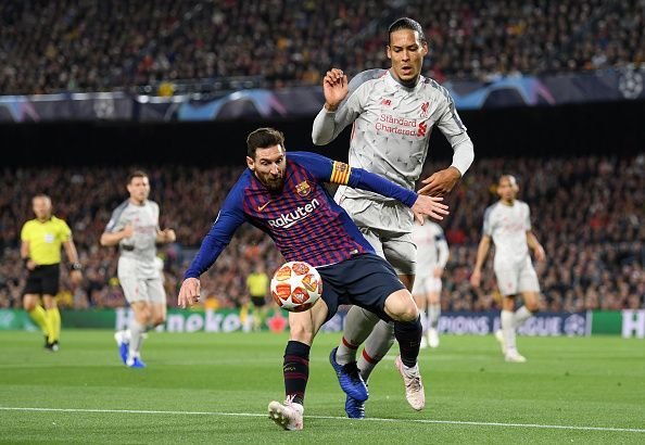 Image result for van dijk vs messi