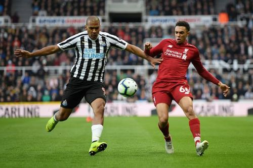 Trent was lucky not to be sent off after a deliberate handball in the first half, before a defiant response