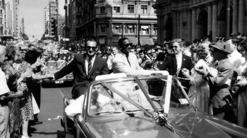 A large crowd gathered in Melbourne to bid farewell to the West Indians.