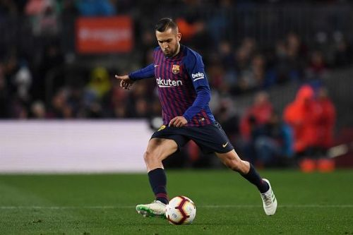 Jordi Alba created 4 chances in the first half for Barcelona