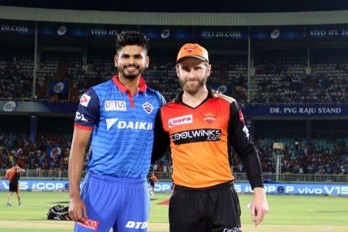 Shreyas Iyer and Kane Williamson. (Photo courtesy of IPLT20/BCCI)