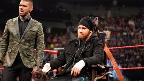 Sami Zayn sat in the 'Electric Chair' on Raw