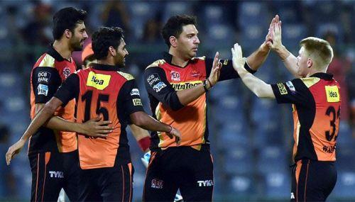 SRH beat KKR by 22 runs in the eliminator in 2016 ipl