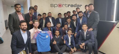 GISB Students and Management with the Sportradar team at the London Office