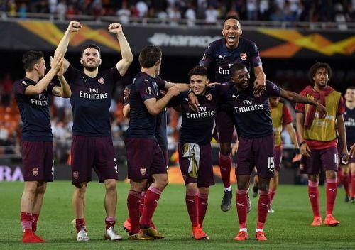 Arsenal knocked out Valencia to reach the Europa League final