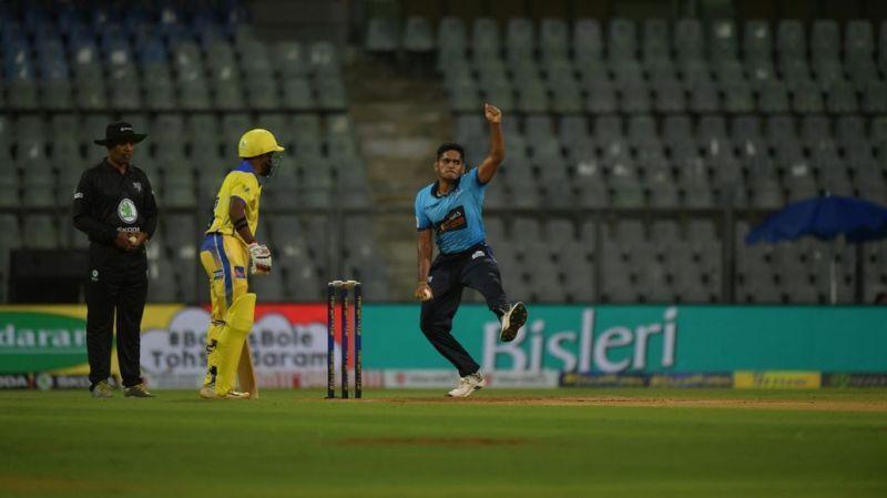 Tushar was seen bowling at 145 kmph last year and at 146 kmph this year.