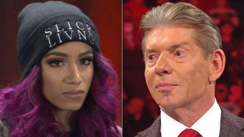 Sasha Banks and Vince McMahon reportedly had a meeting
