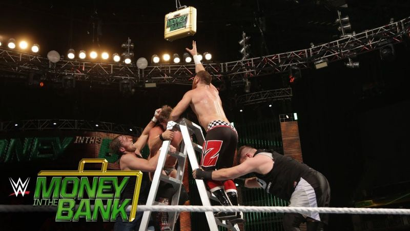 Superstars vie for a guaranteed title match contract in the Money in the Bank Ladder match.