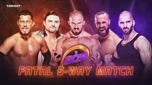 Five of 205 Live's best competitors faced off in a
