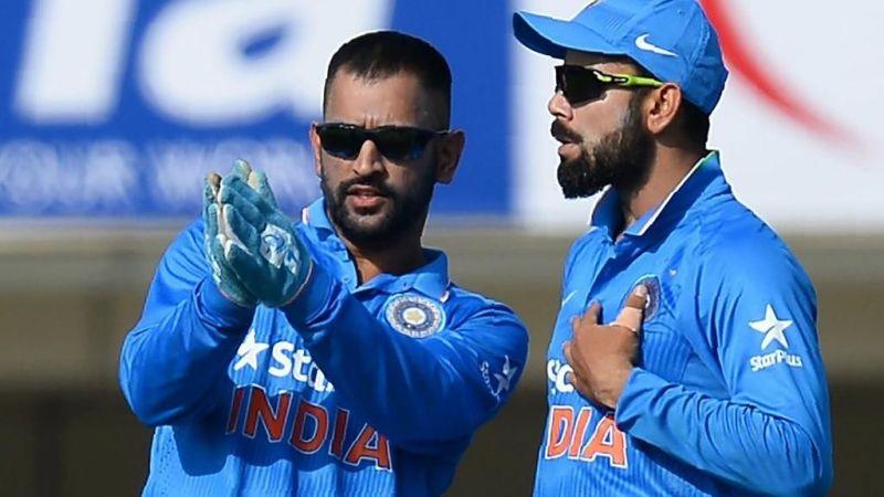M.S Dhoni and Virat Kohli