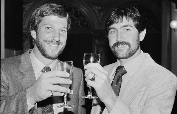 Ian Botham (left) and Graham Gooch played crucial roles in clinching a close semi-final win over New Zealand in the World Cup 1979.