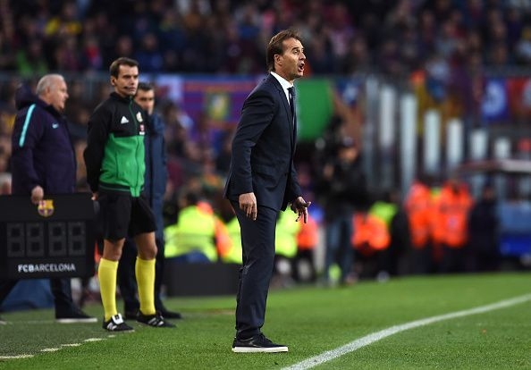 A 5-1 defeat to Barcelona in El Clasico brought Lopetegui