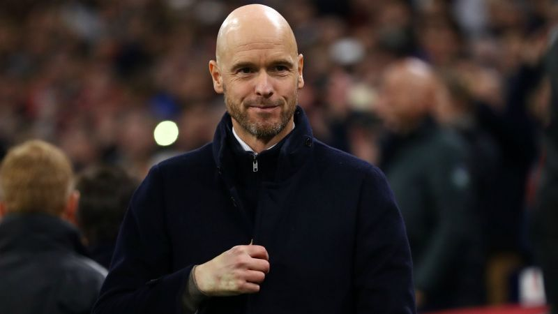 Ten Hag looks on during a match