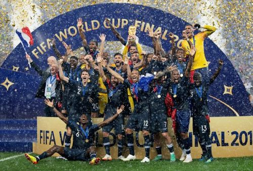 France celebrate their World Cup win.